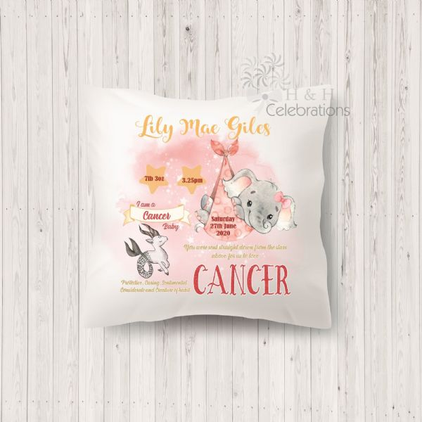 Cancer - Baby Star Sign Keepsake Cushion